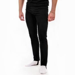 Pants for men with footstep
