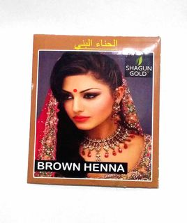 Hair dye based on Indian henna (brown)