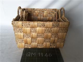 Wicker baskets, 3 pieces