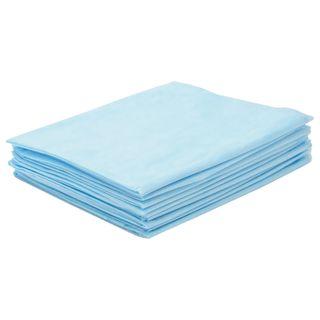INMEDIZ / Non-sterile disposable sheets set 10 pcs., 140x200 cm, laminated spunbond, 40 g / m2, blue