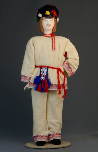 Doll gift porcelain. Vaski mens wedding suit. Late 19th - early 20th century.