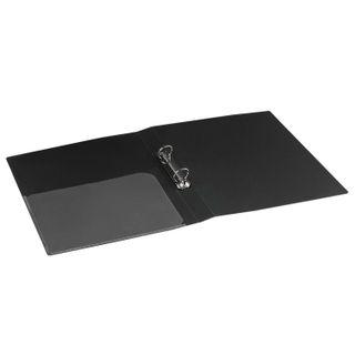 "Folder on the 2 rings BRAUBERG ""Standard"", 25 mm, black, up to 170 sheets, 0.8 mm"