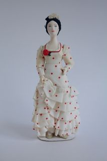 Doll gift. Female costume 19th-20th century Andalusia. Spain.