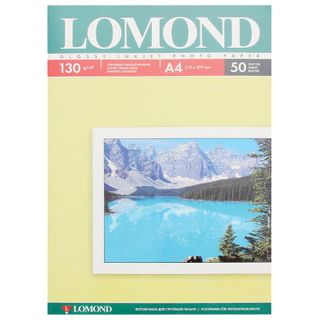 Photo paper for inkjet print, A4, 130 g/m2, 50 sheets, single-sided glossy LOMOND