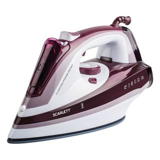 Iron SCARLETT SC-SI30K26, 2400 watts, ceramic coating, auto power off, anticaps, antinakipin, self-cleaning, Marsala