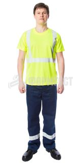 """T-shirt """"Envelope"""" with the SOP, fluorescent yellow"""