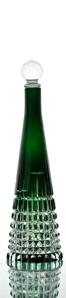 "Crystal decanter ""Gothic"" green"