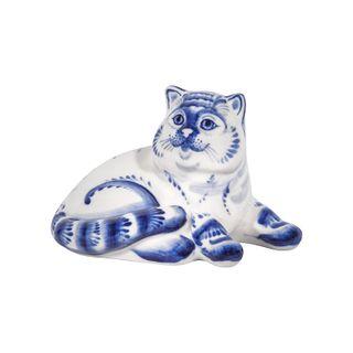 Sculpture cat Boniface 1st grade, Gzhel Porcelain factory