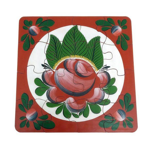 "Volkhov painting / Souvenir puzzles ""Volkhov rose tree No. 5"" hand-painted"