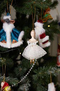 Christmas toy porcelain ballerina Giselle, 14 cm