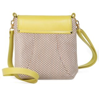 """Leather bag """"Paris"""" in yellow"""