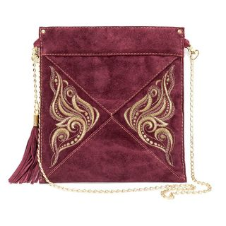 Suede Butterfly Bag
