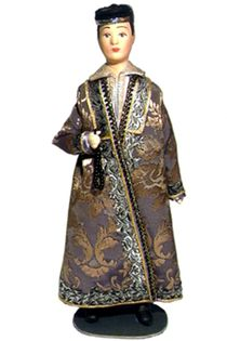 Doll gift. Male, festive cosum. Kazan. The beginning of the 19th century. Tatars