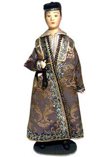 Doll gift. Male, festive cosum. Kazan. The beginning of the 19th century. Tatars