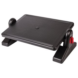 BRAUBERG office footrest, 41.5x30 cm, with retainers, black