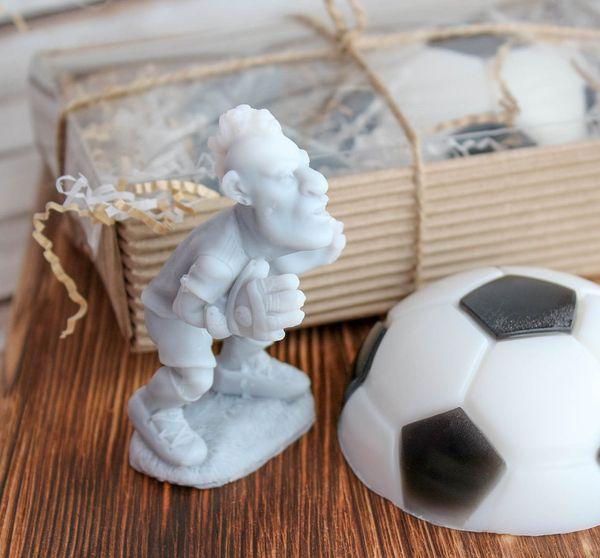 Handmade soap gift set for soccer player