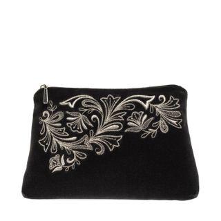 """Velvet cosmetic bag """"Frosty pattern"""""""