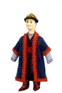 Tatar urban men's suit mid 19th century. Doll gift