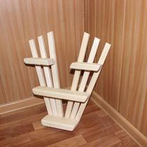 Shelf Butterfly wooden for bath and sauna