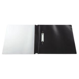 Folder plastic with perforations BRAUBERG, A4, 140/180 µm, black
