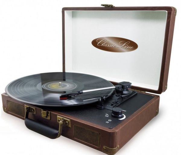 "Retro turntable in a leather suitcase Soundmaster VCS-03 ""Classic Line"""