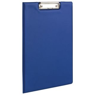 Folder tablet FISMA, A4 (340х240 mm), with holder and lid, cardboard/PVC, RUSSIA, blue