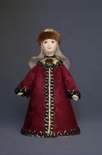 Doll gift porcelain. Russian Boyarynya (styling). 16-18 centuries.