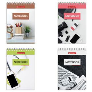 Small FORMAT Notebook (97 x145 mm) A6, 40 sheets, comb, cardboard, cage, BRAUBERG,