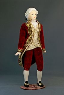 Men's court dress. France. The mid-18th century. Doll gift