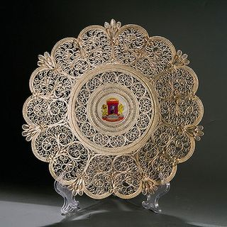 """Kazakov Filigree / Plate """"Nizhny Novgorod"""" silvering"""
