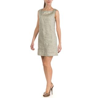 """Dress women """"Grisaille"""" gray with silk embroidery"""