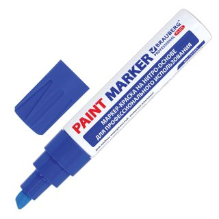 Marker, paint, lacquer 8 mm, BLUE, NITRO-BASE, aluminum housing, BRAUBERG PROFESSIONAL PLUS JUMBO