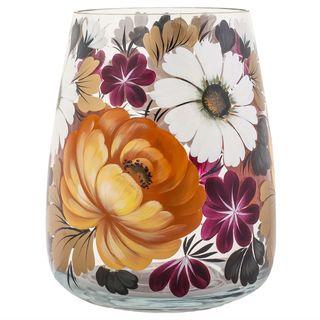 Zhostovo / Medium glass vase, author N. Solomatina