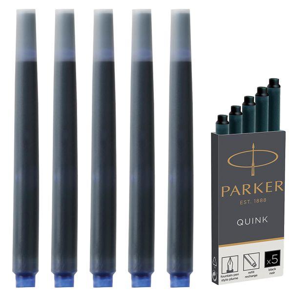 Cartridges PARKER ink 'Cartridge Quink', SET of 5 PCs, black