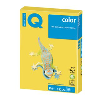 Paper I'color BIG FORMAT (297 x420 mm), A3, 120 g/m2, 250 sheets, intensive, canary yellow