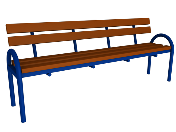 Bench with back MM-42