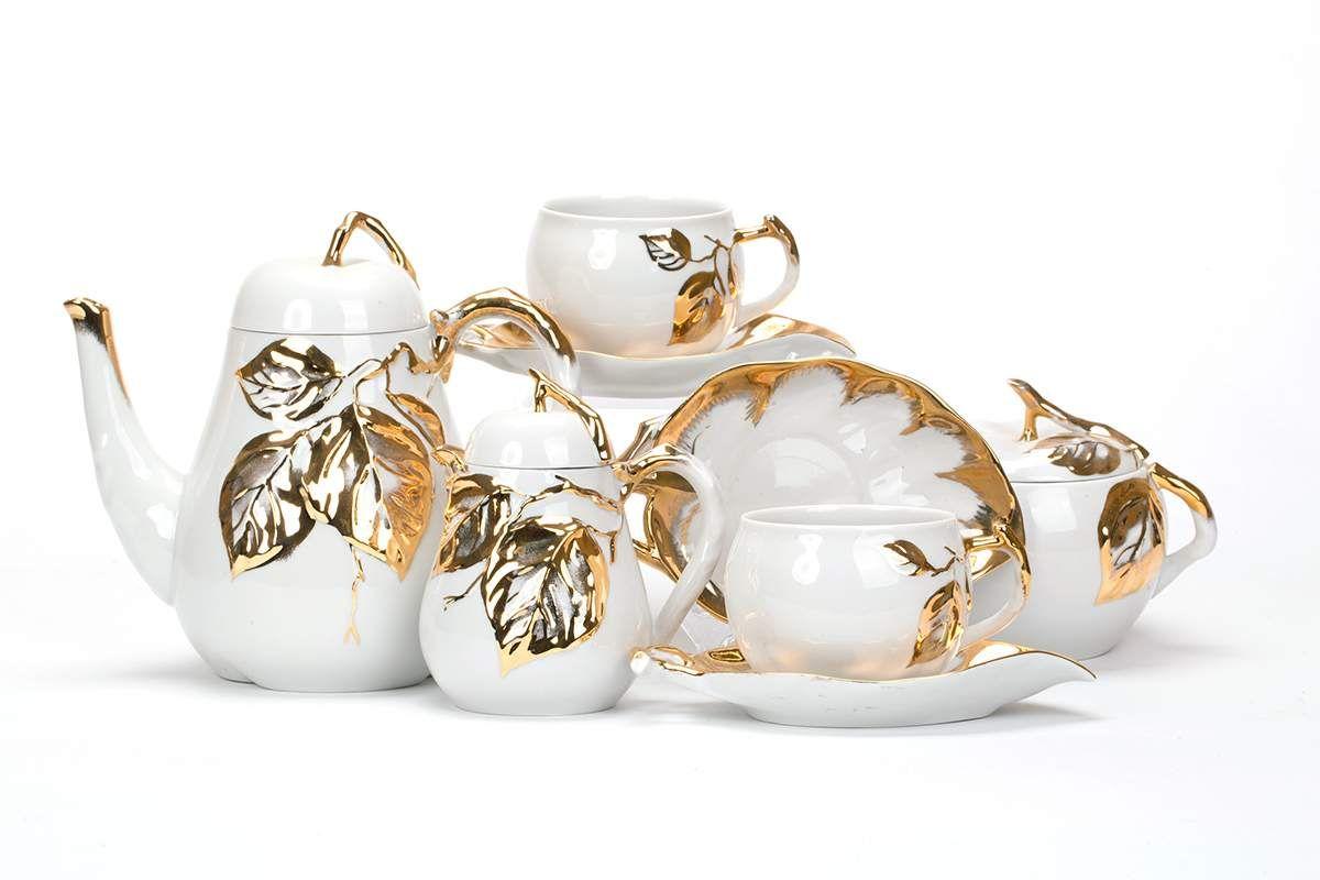 Dulevo porcelain / Tea set 15 pcs. Orchard Apple Orchard