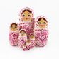 Russian woman - Russian doll booklet, 7 dolls - Gzhel - view 2