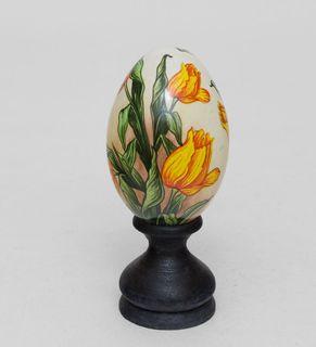 """Egg wooden """"Tulips"""" 14 cm"""