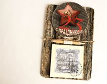Handmade souvenir Fridge Magnet Notebook February 23
