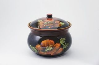 "Tureen ""Poppy on black"""