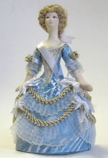 Lady in fancy dress mid-18th century. Doll gift