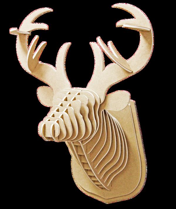 3D figure – Head of red deer KVK Brown