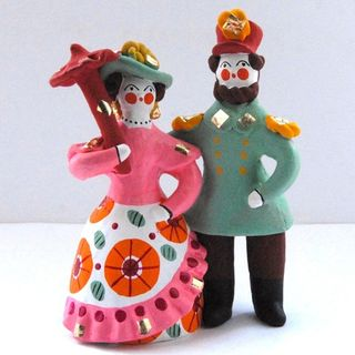 Dymkovo clay toy Steam city