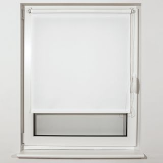 CURTAIN roll BRABIX 55x175 cm, texture - lynn, protection 55-85%, 200 g/m2, white