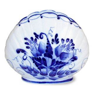 Napkin holder Shell 2 grade, Gzhel Porcelain factory