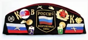 Matryoshka Factory / Army pilot cap with badges black