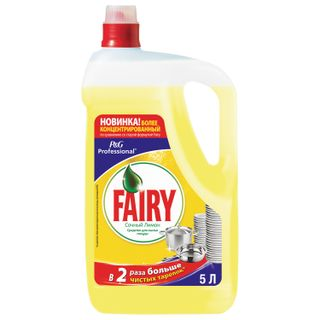 """Means for washing dishes 5 l, FAIRY (Fairy) """"Lemon"""""""