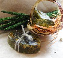 Handmade soap on herbs Organic fruit-herbal