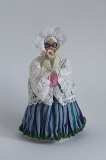 "Doll gift porcelain. Grandma. The character of the fairy tale ""little Red riding hood""."